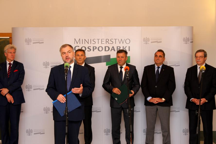 Marszałek Marek Woźniak wziął udział w inauguracji projektu Centrum Arbitrażu i Mediacji - kliknij aby powiększyć