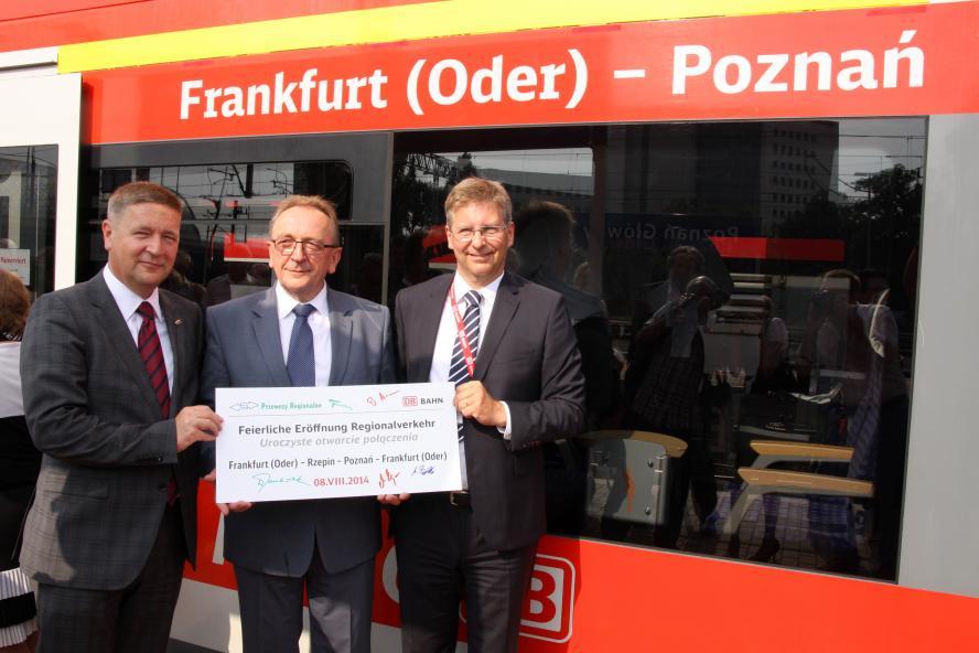 Inauguracja połączenia Poznań Frankfurt nad Odrą z udziałem Wicemarszałka Wojcie- kliknij aby powiększyć
