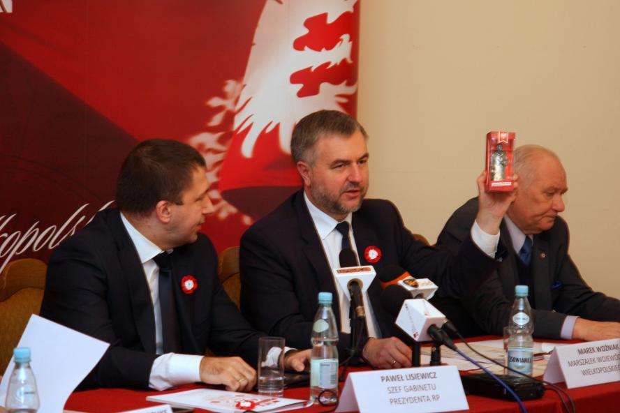 12 grudnia 2013 roku Marek Woźniak, Marszałek Województwa Wielkopolskiego był gospodarzem konferencji prasowej dotyczącej obchodów 95. rocznicy wybuchu Powstania Wielkopolskiego, podczas której poznaliśmy szczegóły uroczystości w stolicy Wielkopolski oraz- kliknij aby powiększyć