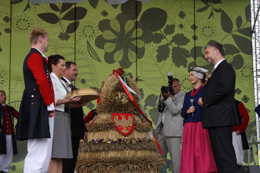 Wielkopolscy rolnicy świętowali 26 sierpnia 2012 roku w Ostrowie Wielkopolskim. Gospodarzami tegorocznych XIV Wojewódzko - Diecezjalnych Dożynek Wielkopolskich byli Marszałek Województwa Wielkopolskiego i Biskup Kaliski- kliknij aby powiększyć