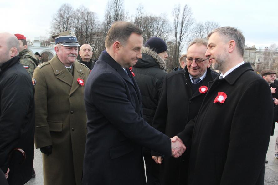 Obchody w Warszawie 97. rocznicy wybuchy Powstania Wielkopolskiego - kliknij aby powiększyć
