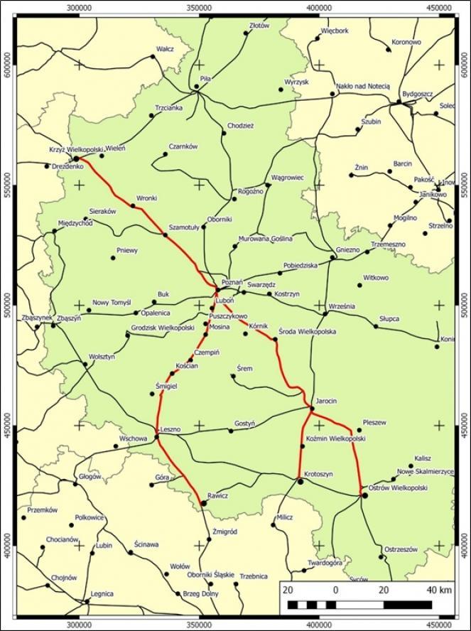 Linie kolejowe wskazane do obsługi nowym i zmodernizowanym taborem- kliknij aby powiększyć