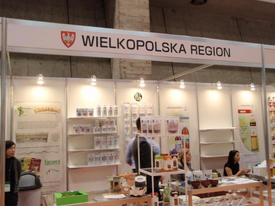 Stoisko regionalne Województwa Wielkopolskiego na targach FOODEX JAPAN 2017- kliknij aby powiększyć