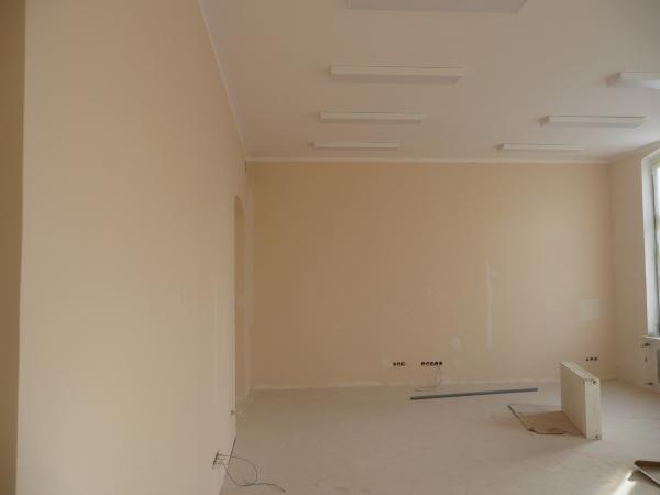Pomieszczenie w trakcie prac po wymianie oświetlenia- kliknij aby powiększyć