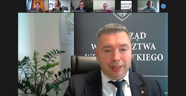 Pan Jacek Bogusławski Członek Zarządu Województwa Wielkopolskiego- kliknij aby powiększyć