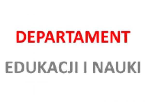 logo Departamentu Edukacji i Nauki- kliknij aby powiększyć