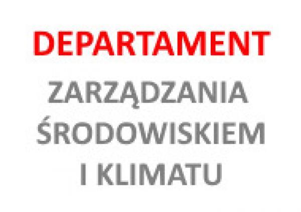 Logo Departamentu Zarządzania Środowiskiem i Klimatu- kliknij aby powiększyć