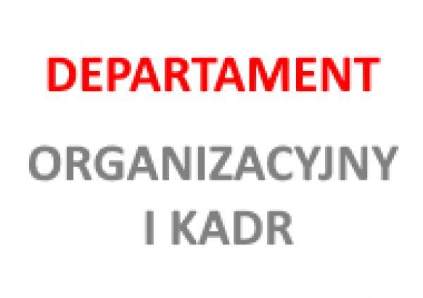 logo Departamentu Organizacyjnego i Kadr- kliknij aby powiększyć