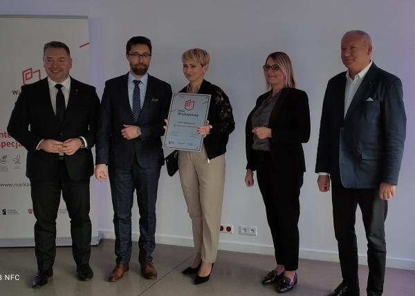 Certyfikat odebrał  pan Robert Chmielewski – współwłaściciel Complet Chmielewscy sp. j. - kliknij aby powiększyć