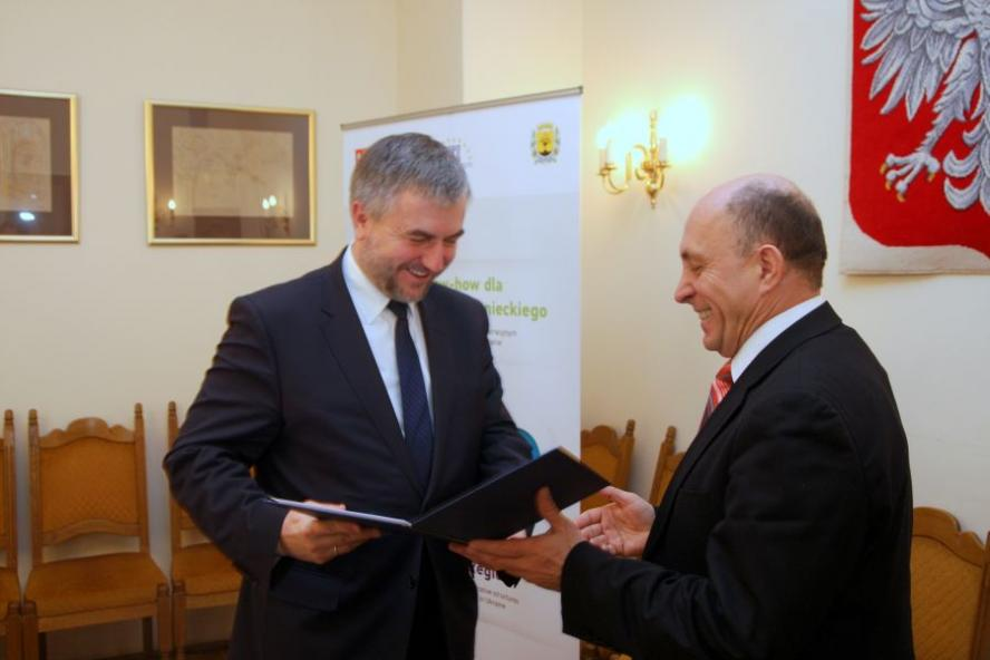 Spotkanie Marszałka Marka Woźniaka ze stażystami z Obwodu Donieckiego - zobacz więcej