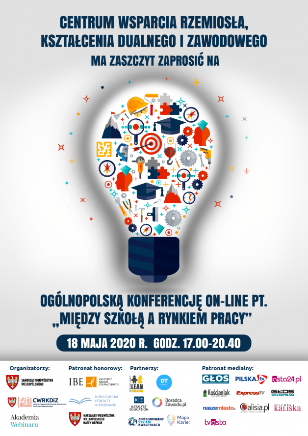 """Ogólnopolska konferencja online """"Między szkołą a rynkiem pracy"""" - zobacz więcej"""