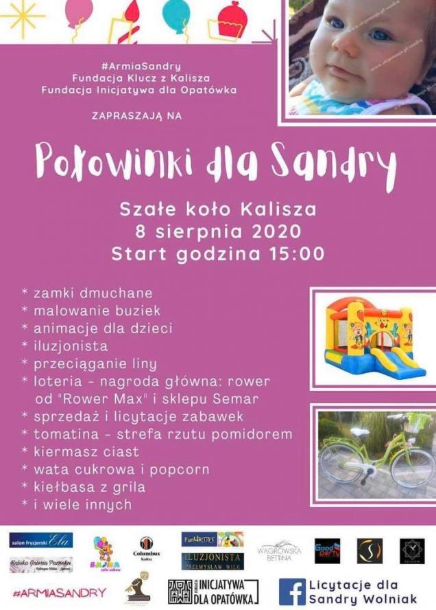 Charytatywny festyn dla Sandry Wolniak z Niedźwiad pod Kaliszem - zobacz więcej