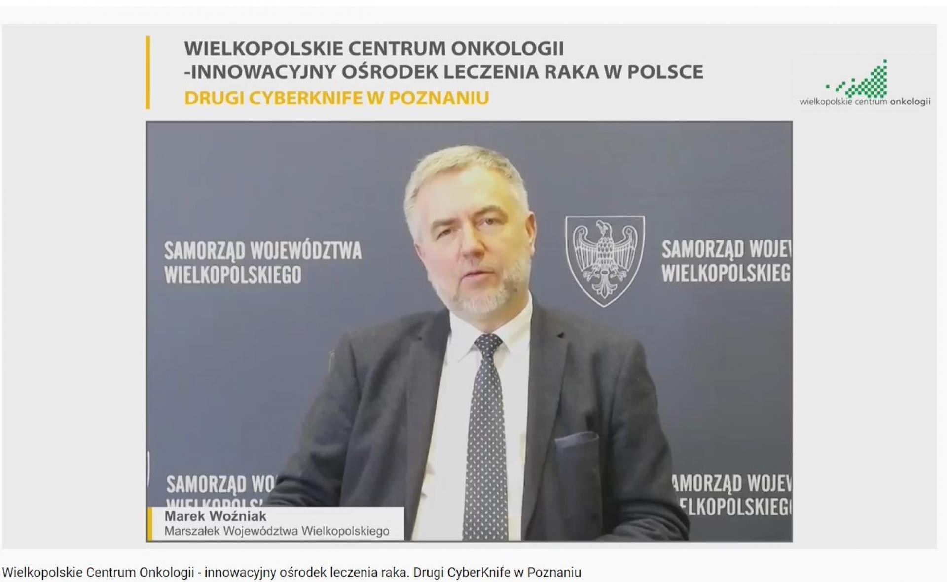 Samorząd Województwa Wielkopolskiego dofinansował zakup drugiego urządzenia typu CyberKnife przez WCO w Poznaniu  - zobacz więcej