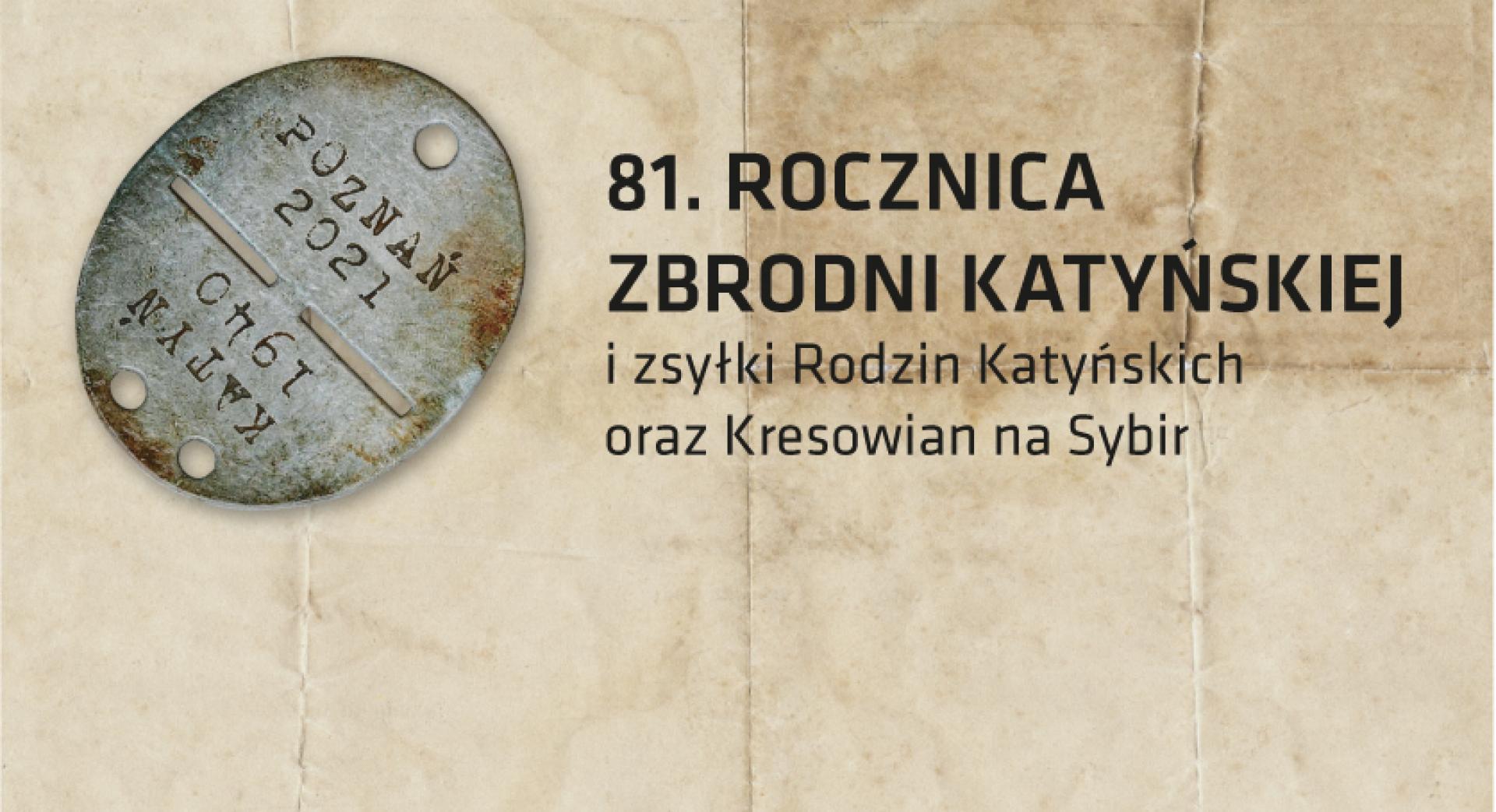 81. rocznica Zbrodni Katyńskiej  - zobacz więcej