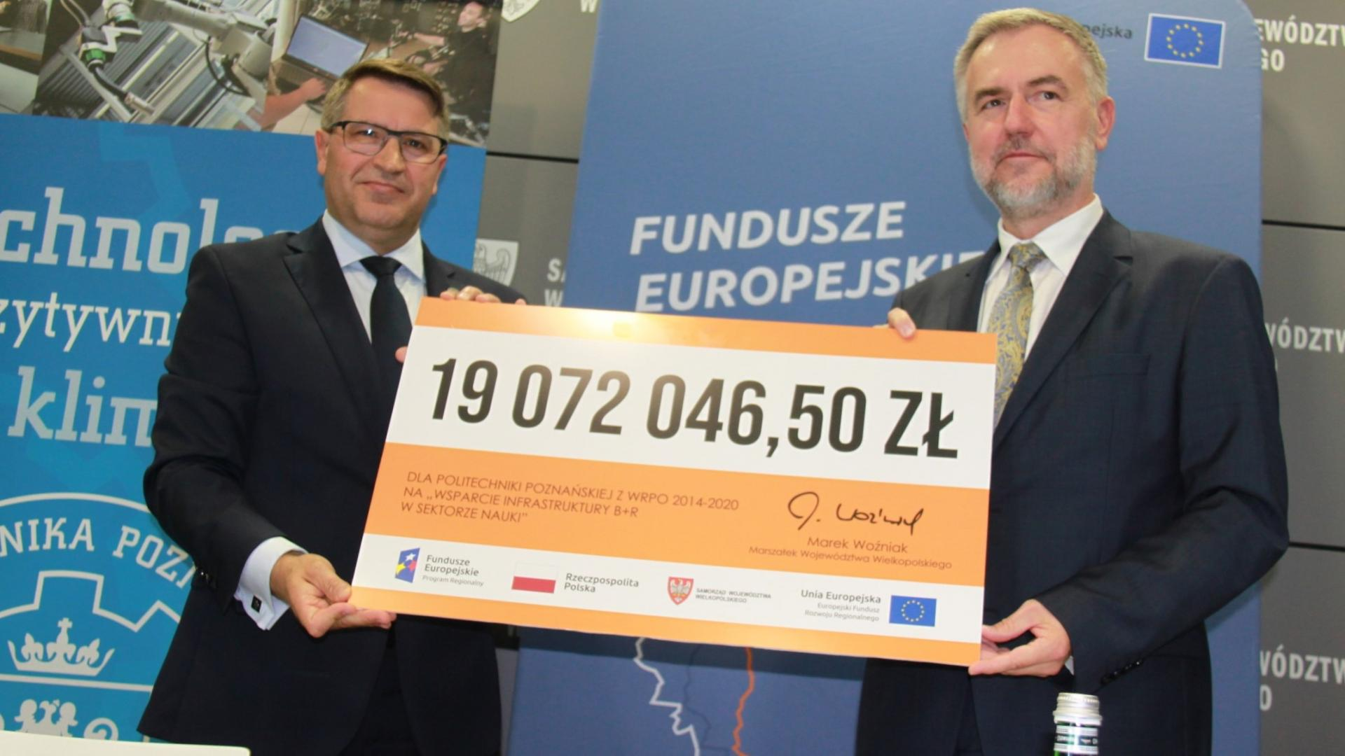 Unijne 19 milionów złotych od Marszałka z WRPO 2014+ dla Politechniki Poznańskiej na projekty sięgające kosmosu - zobacz więcej