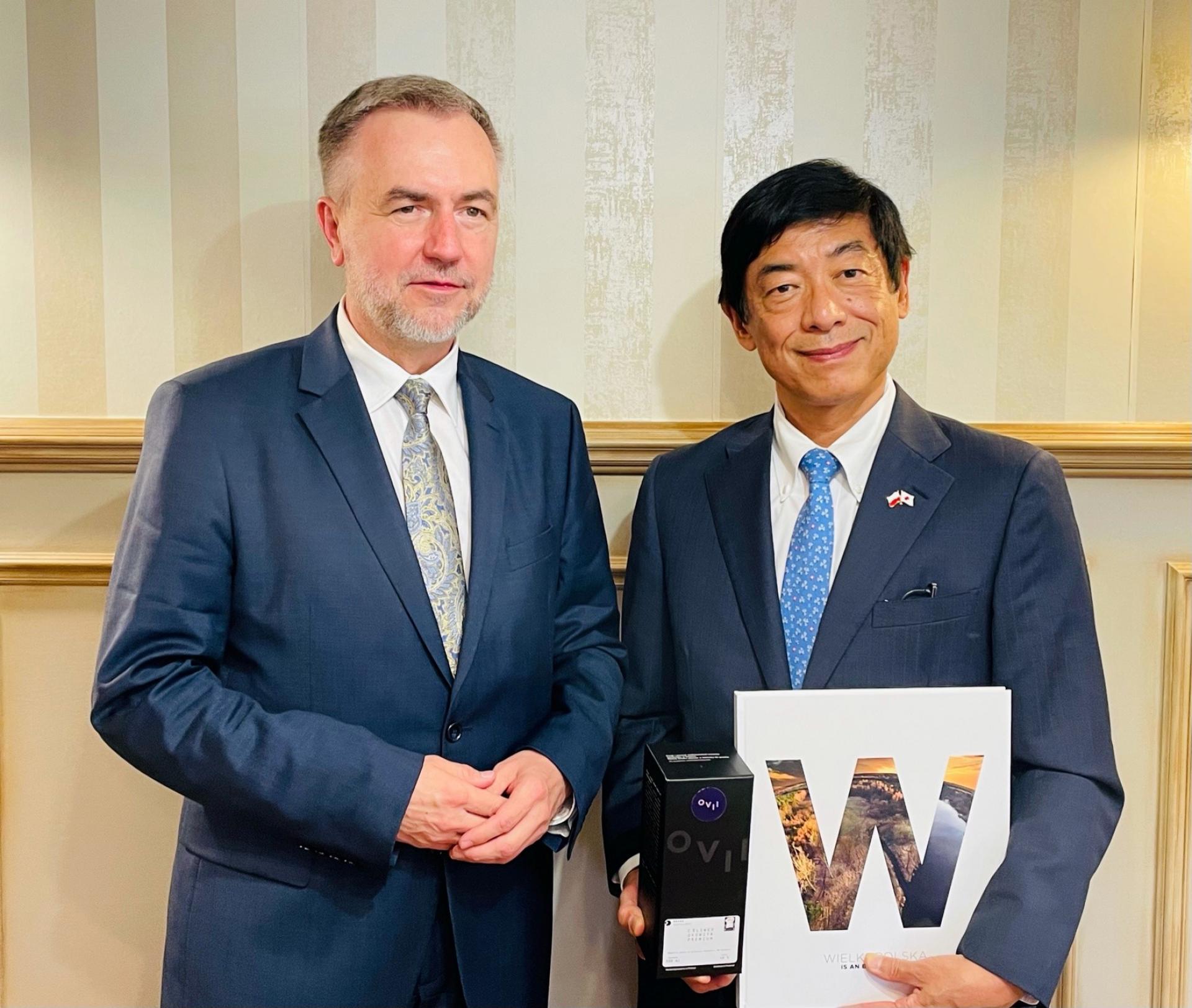 Wizyta Ambasadora Japonii w Wielkopolsce. Z Marszałkiem Markiem Woźniakiem rozmawiali o współpracy i… sumo - zobacz więcej