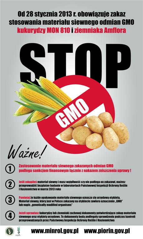 ulotka promująca projekt stop gmo