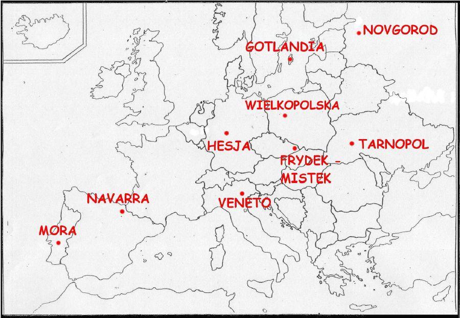 mapa regionów współpracujących