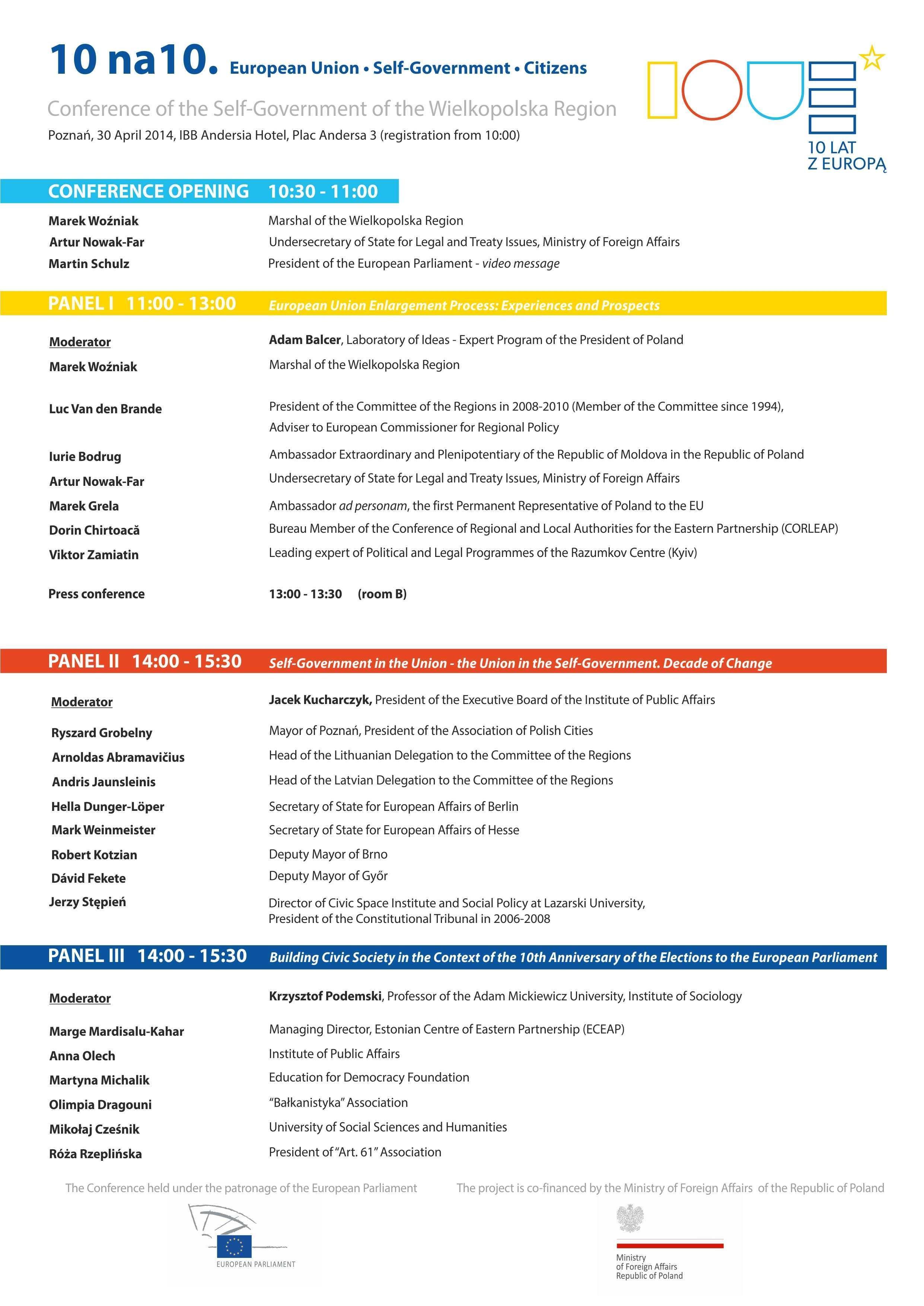 conference programme Poznań